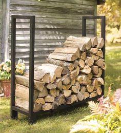 DIY Outdoor Firewood Storage Rack Ideas for a deck DIY Outdoor Brennholz Lagerregal Ideen [ad_ Rack Metal, Wood Storage Rack, Wood Storage Sheds, Firewood Storage, Wood Shed, Storage Shed Plans, Garage Storage, Fire Wood Storage Ideas, Diy Storage