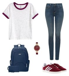 """""""Untitled #21"""" by fawn98 on Polyvore featuring NYDJ, H&M, adidas, Baggallini and Anne Klein"""