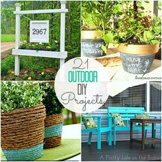 21 DIY Outside Projects!! -- Tatertots and Jello