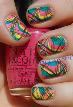 Stamped water marble