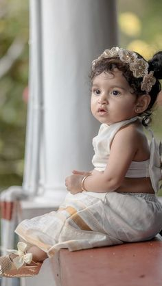 Girls Dress Up, Baby Girl Dresses, Flower Girl Dresses, South Indian Weddings, Big Fat Indian Wedding, Cute Baby Dolls, Cute Babies, Baby Book Quotes, Bridal Photoshoot