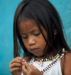 Embera beautiful little girl