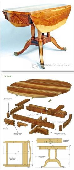 Drop Leaf Table Plans - Furniture Plans and Projects | http://WoodArchivist.com