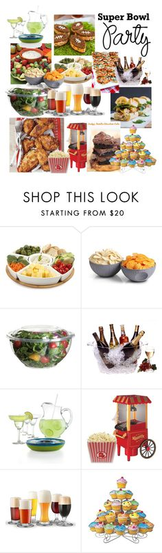 """Super Bowl Party"" by amy-brandstatter ❤ liked on Polyvore featuring interior, interiors, interior design, home, home decor, interior decorating, Dot & Bo, ThinkGeek, Prodyne and The Cellar"