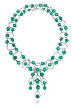 Sintessi - Emerald And Diamond Necklace - Available now on Moda Operandi