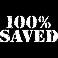New Custom Screen Printed Tshirt 100% Percent Saved Religious Small - 4XL Free Shipping. $16.00, via Etsy.
