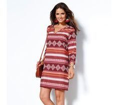 Tunikové šaty s potlačou a 3/4 rukávmi | modino.sk #ModinoSK #modino_sk #modino_style #style #fashion #dress Sexy, Sweaters, Dresses, Spring Summer, Jar, Products, Fashion, Caftan Dress, Neckline