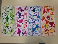 innovation in squares and triangles - - Kindergarten Art, Preschool Art, Art Activities For Kids, Art For Kids, Toddler Activities, Arte Elemental, Triangle Art, 4th Grade Art, Principles Of Art