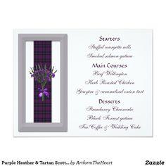 Purple Heather & Tartan Scottish Wedding Menu