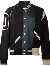 Maison Margiela - panelled varsity jacket