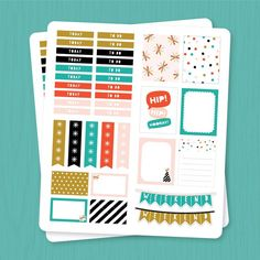 Hi everyone!  Happy Monday!  We have a free printable for all you planner lovers out there!  These work perfectly with the Erin Condren Life Planner (or whatever your favorite planner is)!  The PDF includes section header labels, check list flags, full and half box stickers as well as a few weekend banners! The stickers are…