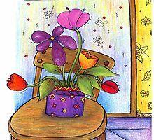 #thirt mit blume, #Blumenvase Love Illustration, Handmade, Painting, Art, Vase Of Flowers, Art Background, Hand Made, Painting Art, Kunst