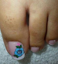 Flor Cute Toe Nails, Cute Toes, Toe Nail Art, New Nail Art Design, French Pedicure, Toe Nail Designs, Pedicure Nails, Finger Painting, Spring Nails