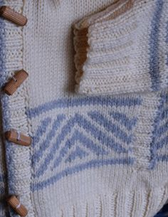 Simple two-color design on outdoor jacket - maddy laine Knitting Patterns