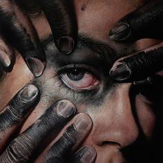 Hyperrealistic Eyes Paintings