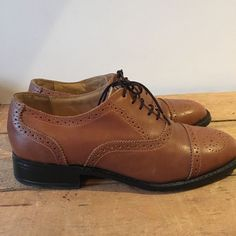 Uk size 6.5 eu 40.5 mens samuel windsor tan leather brogue lace up shoes