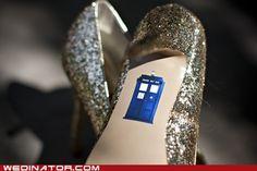 Something old, something new. Something borrowed. something BLUE! Even if my future husband doesn't like Doctor Who. Wedding Shoes, Dream Wedding, Wedding Day, Wedding Veils, Bridal Shoes, Wedding Jewelry, Blue Wedding, Wedding Stuff, Something Borrowed