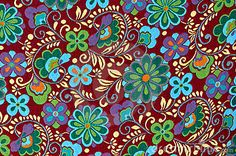 Mayan Floral Pattern Background by Brandon Bourdages, via Dreamstime