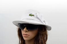 Mens / Womens Unisex Lacoste The Classic Crocodile Embroidery Logo Fisherman Adjustable Bucket Hat - White Lacoste Store, Mlb Baseball Caps, Animal Print Outfits, Knit Beanie, Crocodile, Bucket Hat, Hip Hop, Street Style, Embroidery