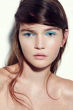 Turq liner by liv friis-larsen. #eyeliner #makeup #turq