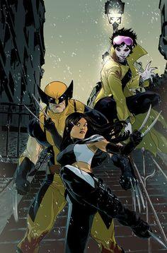 X-23, Wolverine, & Jubilee by Kalman Andrasofszky *