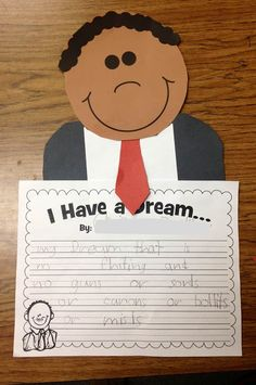 Martin Luther King Jr. craft and writing activity: I have a dream...