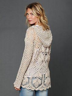 Crochet Speckled Hoodie