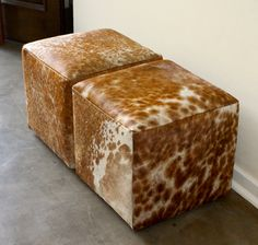 The Cow Hide Cube by Holly Hudson Hudson Furniture, Cow Hide, Cube, Furniture Design, Mountain, Home Decor, Interior Design, Home Interior Design, Home Decoration