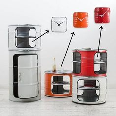 Metal craft - DIY oil drum furniture ideas and creative upcycling ideas Oil Barrel, Metal Barrel, Garage Furniture, Barrel Furniture, Barrel Projects, Diy Projects, Table Indus, Upcycling Design, Nachhaltiges Design