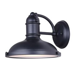 Canarm Marcella 1 Light Outdoor Down Light with Glass Diffuser - Black - Easy Connect Included Black Outdoor Wall Lights, Outdoor Ceiling Lights, Outdoor Barn Lighting, Outdoor Wall Lantern, Outdoor Wall Sconce, Exterior Lighting, Outdoor Walls, Wall Sconce Lighting, Wall Sconces