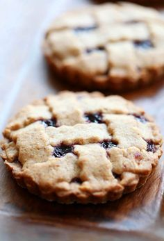 Mini Linzer Tortes (Great way to use up all the homemade jam I have!)