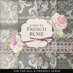 Far Far Hill: New Freebies Kit - French Rose http://www.pinterest.com/source/farfarhill.blogspot.com/