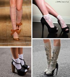 """really want to pull the whole """"socks with heels look"""" cuz i think its adorable!"""
