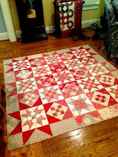 My Quilt. I made with Rouenneries by French General and Miss Rosie's OT.
