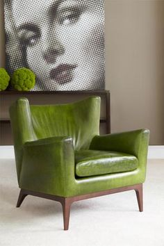green leather.......love this color.
