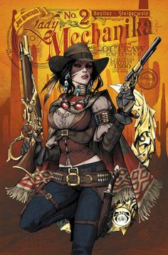 The Outlaw by Joe Benitez. Love the mix of native gear and wild west flare. Plus Lady Mechanika just rocks. Also, gunbelts. Mmm gunbelts.