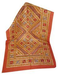 Designer Handmade Indian Embroidered Sofa Throw Attractive Throw Traditional Tapestry $69.00