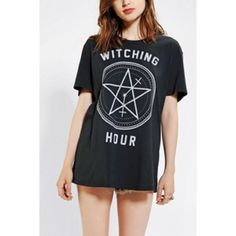 ISO WITCHING HOUR Feather Hearts Urban Outfitters Witching Hour black tee. I've been looking for and need this tee. If selling please contact me!  Vintage-inspired American made graphic tee featuring crew neck and subtle distressing. Easy, lightweight fabrication. I'm desperately searching for these two t shirts could have been sold at Urban Outtake or Free People. Please help me! Urban Outfitters Tops Tees - Short Sleeve