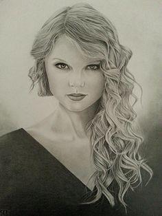 Taylor Swift Portrait 1 settimana e mezzo per finirlo,andate sul mio blog per vedere il materiale usato.