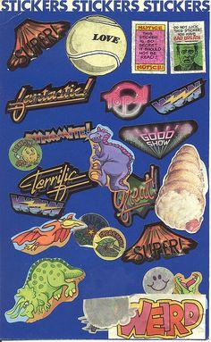 Vintage 80's sticker album page