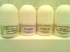 All Natural Aluminum Free Deodorant Roll-on by KeyOrganics on Etsy
