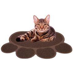 Cat Litter Mat Catcher - Smartgrip Paw-Shaped Grass-Like Material Traps Catches Litter - 1 Year warranty - 24 x 19 $11.99