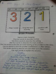 Interactive activitie - ex a story pyramid summary that students can use in their summarization efforts.
