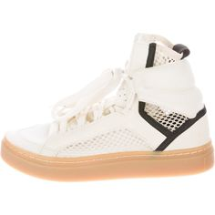 Pre-owned Stella McCartney for Adidas Mesh High-Top Sneakers ($95) ❤ liked on Polyvore featuring shoes, sneakers, adidas trainers, adidas shoes, adidas sneakers, adidas high tops and high top sneakers
