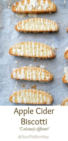 Apple Cider Biscotti Delicious and different a great idea for a food gift or addition to your holiday cookie tray!