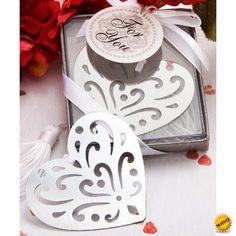 Elegante Punto de Libro Corazón en Cajita de Regalo