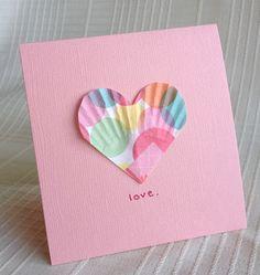 Easy Valentines Craft Paper Liner Hearts : [michellesjournalcorner.blogspot.com
