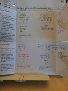 systems of equation foldable