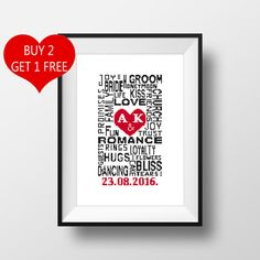 Wedding Words Personalized PDF Cross Stitch by NikkiPattern