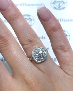 Square Halo Engagement Rings, Dream Engagement Rings, Cushion Cut Engagement Ring, Antique Engagement Rings, Engagement Ring Settings, Wedding Dreams, Dream Wedding, Double Halo Rings, Ring Video